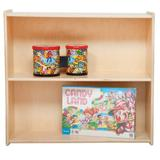 """Wood Designs Contender 27.25"""" H x 30"""" W Solid Wood Standard Bookcase Wood in Brown, Size 27.25 H x 30.0 W x 12.0 D in 
