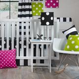 Harriet Bee Socha 3 Piece Crib Bedding Set Cotton Blend in Black/White, Size 1.0 W in   Wayfair 7253E65049944B5FB974D18B52EA7C68