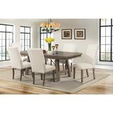 Dex 7PC Dining Set-Table & 6 Upholstered Side Chairs - Picket House Furnishings DJX100S7PC