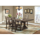 Flynn 5PC Dining Set-Table & 4 Wooden Side Chairs - Picket House Furnishings DFN100S5PC