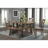 Regan 6PC Dining Set-Table, 4 Side Chairs & Bench - Picket House Furnishings DRN1006DS