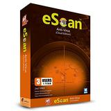 eScan Antivirus with Cloud Security Antivirus pro Software Anti Ransomware Cloud Backup Free MWL tool Total Antivirus Software 2019| 3 Devices 1 Year [Windows XP & above PC Laptops] Key card