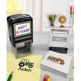 Hampton Technologies Stamps - Black & Brown Ink Tractor Personalized Stamp Set