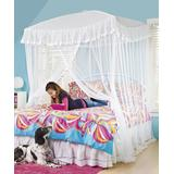 HearthSong Indoor Forts & Tents - White Sparkling Lights Canopy