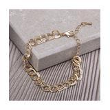 MICALLA Jewelry Women's Bracelets gold - Goldtone Double Cable Chain Bracelet