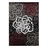 World Rug Gallery Indoor Rugs Red/Gray - Red Floral Alpine Rug