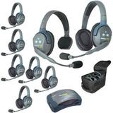 Eartec Ultralite HUB817 8-Person System with 1 Single-Eared Headset, 7 Dual-Eared HUB817