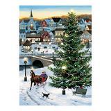 Cobble Hill Puzzles - Village Tree 1,000-Piece Puzzle