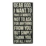 Primitives by Kathy Block Signs - 'Dear God' Box Sign