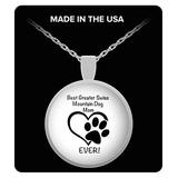 Greater Swiss Mountain Dog Lover Silver Chain Necklace for Women, Gifts for Dog Lovers, Gold Necklace, Pet Parents, Resin Pendant
