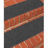 Aqua Shield Indoor Rugs Charcoal - Charcoal Squares Aqua Shield Stair Tread - Set of Four
