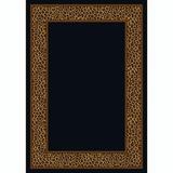World Menagerie Brauer Animal Print Flatweave Black/Brown Area Rug Nylon in Gray, Size 46.0 W x 0.38 D in | Wayfair