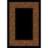 World Menagerie Brauer Golden Leopard Wasabu Area Rug in Black/Brown, Size 278.0 H x 28.0 W x 0.38 D in | Wayfair BD00ADB221B74CF5BA7B203F59376921
