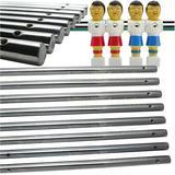 Billiard Evolution Set of 8 Solid Foosball Rods for Foosball Table