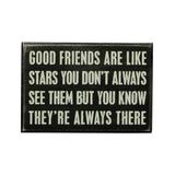 Primitives by Kathy Block Signs - 'Good Friends' Block Sign