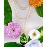 Kwanli Women's Necklaces Green - Peridot Quartz & 18k Gold-Plated Multi-Strand Pendant Necklace