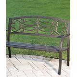 Cape Craftsmen Patio Benches 0 - Bronze Scrolling Knot Garden Bench