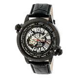 REIGN Men's Watches Black - Black Thanos Leather-Strap Watch