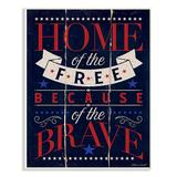 Stupell Industries Wall Art - Navy & Red 'Home of the Free' Wall Art