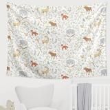 Sweet Jojo Designs Woodland Toile Tapestry Cotton in White, Size 60.0 H x 80.0 W in | Wayfair TapLG-WoodlandToile