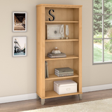 Somerset 5 Shelf Bookcase in Maple Cross - Bush Furniture WC81465