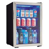 Danby DBC026A1BSSDB 2.6 cu ft Undercounter Refrigerator w/ Glass Door - Black/Stainless, 115v