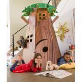HearthSong Indoor Forts & Tents - Brown & Green Indoor/Outdoor Cardboard Tree Fort