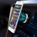 Diamond Pattern Magnetic Car Air Vent Phone Holder, Black For Suede SCH-R710