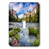 3dRose Gates of the Valley Landscape Yosemite Valley California USA 1-Gang Toggle Light Switch Wall Plate in Green, Size 5.0 H x 3.5 W x 0.06 D in