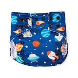 Lotus Bumz Cloth Diapers Navy - Navy Planets Cloth Diaper