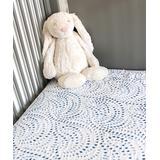Bebe au Lait Crib Sheets - Blue Fitted Crib Sheet