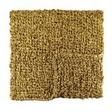 Ann Gish & The Art of Home Ribbon Knit Throw Polyester in Yellow, Size 24.0 W in   Wayfair THRI-GLD