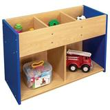 TotMate Toy Storage 5 Compartment Shelving Unit Wood in Blue/Brown, Size 24.0 H x 36.0 W x 14.0 D in | Wayfair TMS501R.S3322