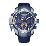 Reef Tiger Military Watches for Men Blue Dial Watch Sport Autoamtic Watches RGA3532 (ZRGA3532-YLLR)