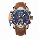 Reef Tiger Military Watches for Men Blue Dial Watch Sport Autoamtic Watches RGA3532 (ZRGA3532-PLSR)