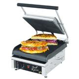 Star GX10IG Single Commercial Panini Press w/ Cast Iron Grooved Plates, 120v