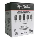 Bar Maid BRS-1720SL Glass Washer Universal Replacement Slotted Brush Set, 5 Pc.