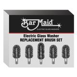 Bar Maid BRS-1722 Bar Maid Glass Washer Replacement Brush Set, 5 Pc