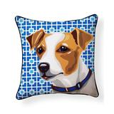 NAKED DECOR Throw Pillows Multi - Jack Russell Indoor/Outdoor Throw Pillow