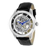 Invicta Men's Watches - Silver & Black Vintage Automatic Leather-Strap Watch