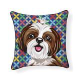 NAKED DECOR Throw Pillows Multi - Shih Tzu Indoor/Outdoor Throw Pillow