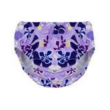 Tuga Sunwear Girls' Swim Diapers Playtime - Playtime Purple Floral Swim Diaper - Infant & Toddler