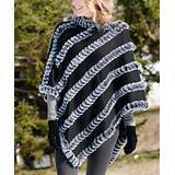 Donna Salyers' Fabulous-Faux Furs Women's Ponchos Black - Black Faux Fur Poncho - Women