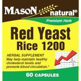 """""""Red Yeast Rice, 60 Capsules, Mason Natural"""""""