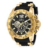 Invicta Men's Pro Diver Stainless Steel Quartz Watch with Polyurethane Strap, Black, 26 (Model: 26406)