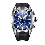 Reef Tiger Big Sport Watches Men Waterproof Date Chronograph Stop Watches Rubber Strap RGA3069-T (ZRGA3069-T-YLB)