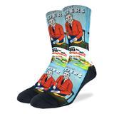 Good Luck Sock Men's Socks Blue - Mister Rogers' Neighborhood Crew Socks - Men