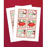 Personalized Planet Labels MULTI - Candy Cane Express Personalized Gift Sticker Set