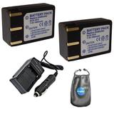 Amsahr S-SLB1974-2CT Digital Replacement Battery PLUS Battery Travel Charger for Samsung SLB1974, Pro815 with Lens Accessories Pouch (Gray)