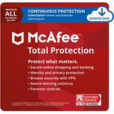 McAfee Total Protection 2021 Unlimited Devices, Antivirus Internet Security Software, VPN, Password Manager, Parental Control, Privacy, 1 Year with Auto Renewal - Amazon Exclusive Subscription